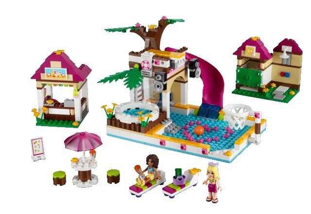 Lego Friends 41008 Koupališ'tě v Heartlake sestaveno