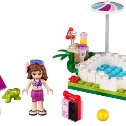 LEGO Friends 41090 Zahradní bazén Olivie sestaveno