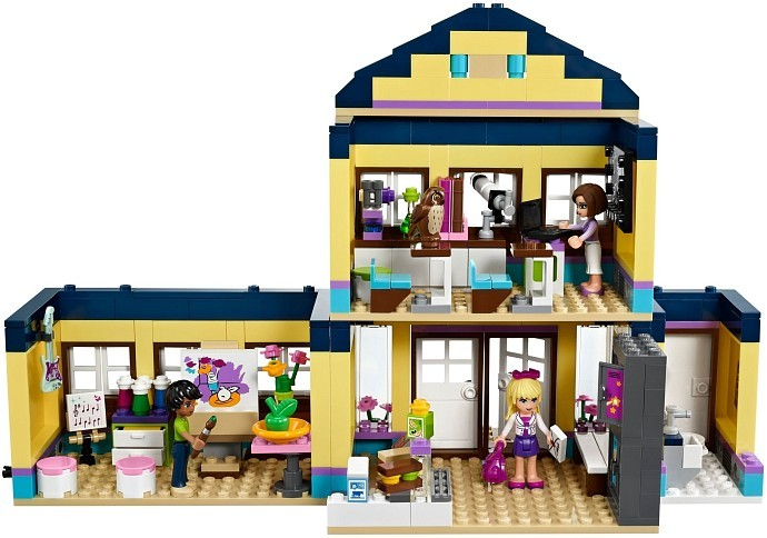 LEGO Friends 41005 Střední škola v Heartlake vnitřek