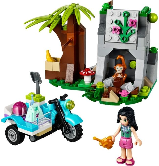 Stavebnice LEGO Friends Motorka do džungle sestaveno