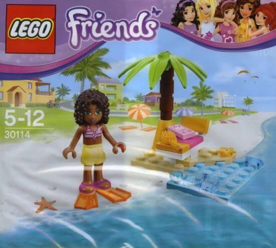 LEGO Friends 30114 Andreino lenošení na pláži