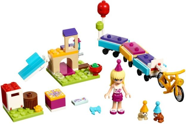 LEGO Friends Vlak na oslavy sestaveno