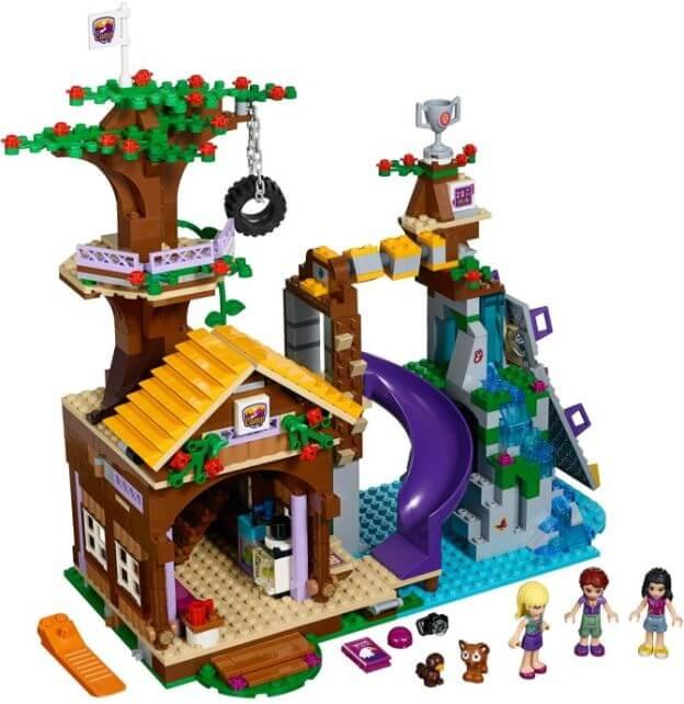 LEGO Friends 41122 Dobrodružný tábor – dům na stromě sestaveno