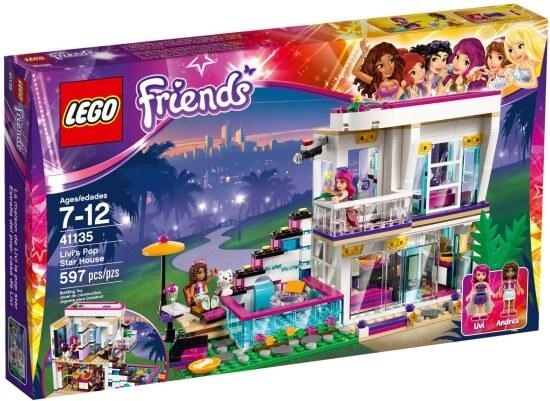 Stavebnice LEGO Friends Livi a její dům popové hvězdy