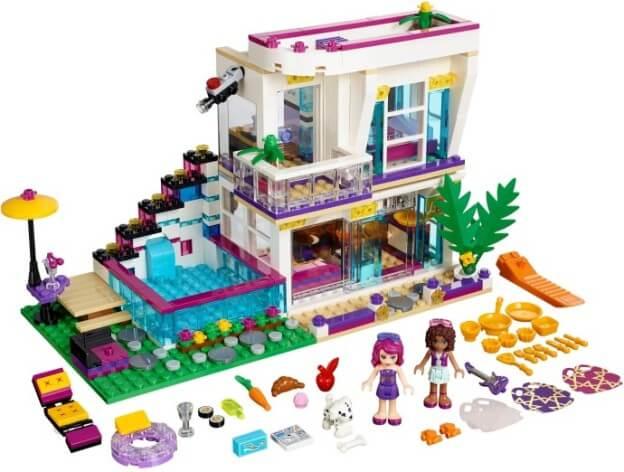 LEGO Friends 41135 Livi a její dům popové hvězdy sestaveno