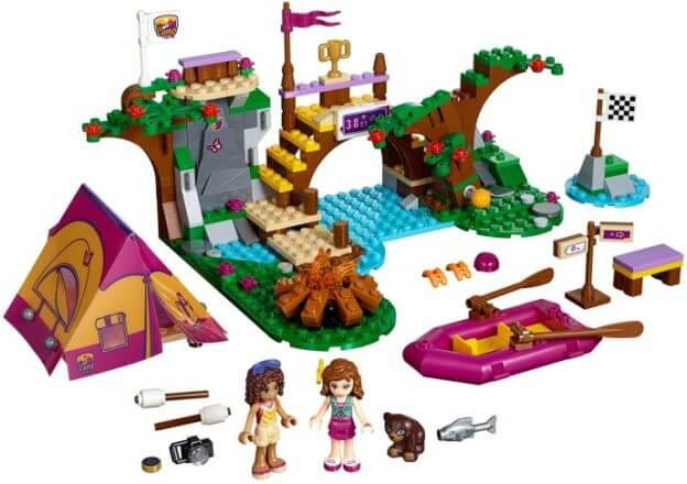 LEGO Friends 41121 Dobrodružný tábor – jízda na divoké vodě sestaveno