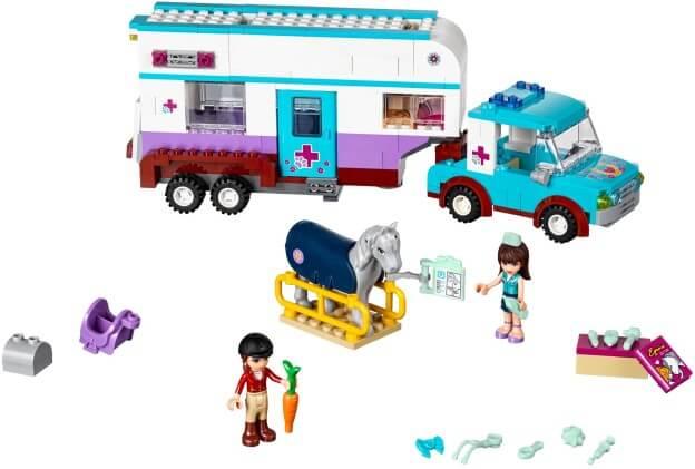 LEGO Friends 41125 Veterinářský přívěs s koněm sestaveno