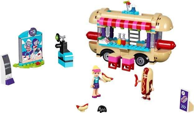 LEGO Friends 41129 Dodávka s párky v rohlíku v zábavním parku sestaveno
