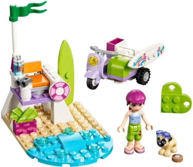 LEGO Friends 41306 Mia a plážový skútr sestaveno