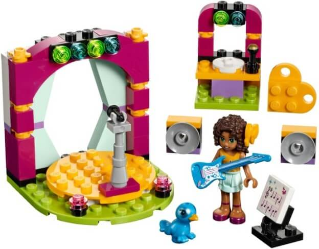 LEGO Friends 41309 Andrea a její hudební duet sestaveno