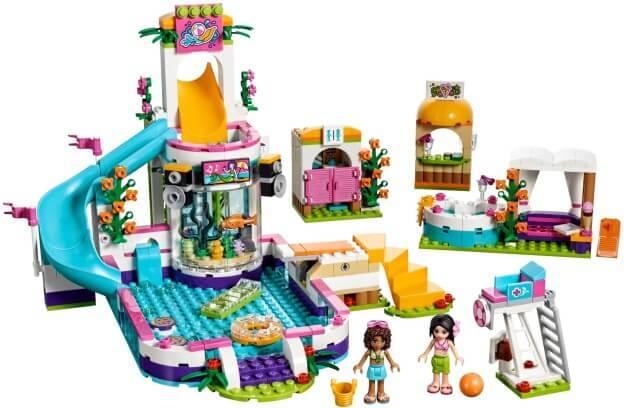 LEGO Friends 41313 Letní bazén v městečku Heartlake sestaveno