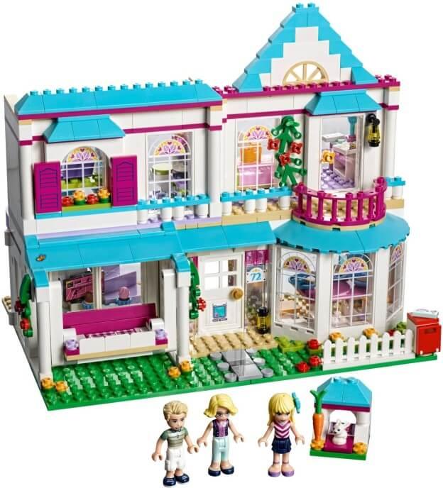 LEGO Friends 41314 Stephanie a její dům sestaveno