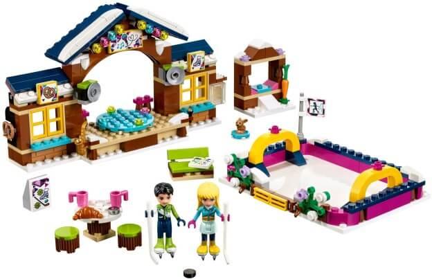 LEGO Friends 41322 Kluziště v zimním středisku sestaveno