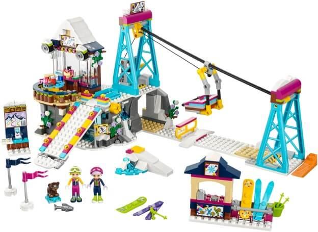 LEGO Friends 41324 Lyžařský vlek v zimním středisku sestaveno