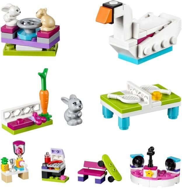 LEGO Friends 40264 Postav si své městečko Heartlake sada s doplňky sestaveno