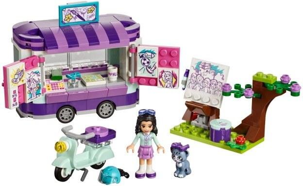 LEGO Friends 41332 Emma a umělecký stojan sestaveno
