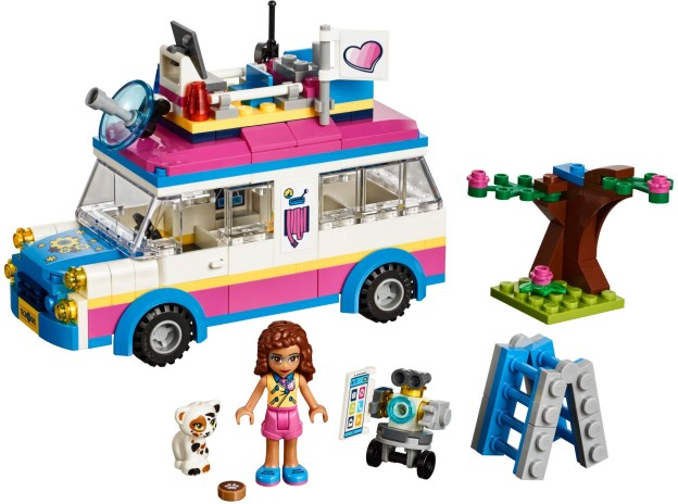 LEGO Friends 41333 Olivia a její speciální vozidlo sestaveno