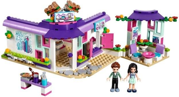 LEGO Friends 41336 Emma a umělecká kavárna sestaveno