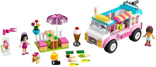 LEGO Juniors 10727 Emma a zmrzlinářská dodávka sestaveno