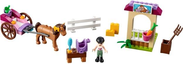 LEGO Juniors 10726 Stephanie a kočár s koníkem sestaveno