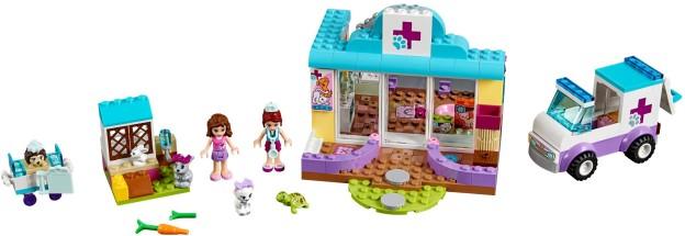 LEGO Juniors 10728 Mia a veterinární klinika sestaveno