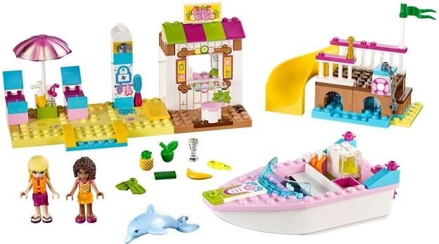 LEGO Juniors 10747 Andrea a Stephanie na dovolené na pláži sestaveno
