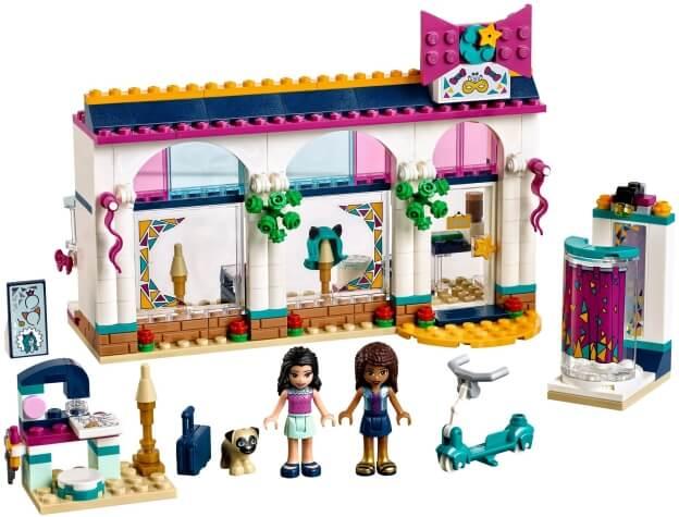LEGO Friends 41344 Andrea a její obchod s módními doplňky sestaveno