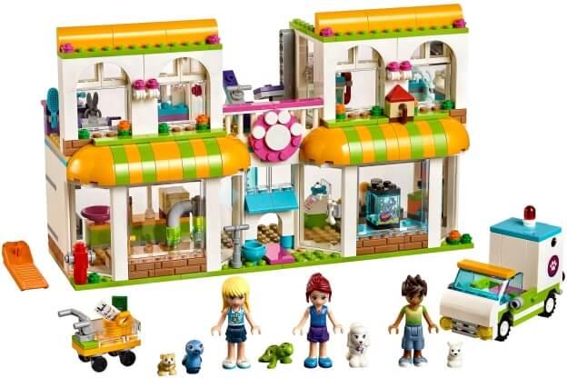 LEGO Friends 41345 Obchod pro domácí mazlíčky v městečku Heartlake sestaveno