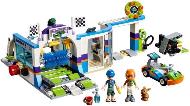 LEGO Friends 41350 Automyčka s pohyblivými kartáči sestaveno