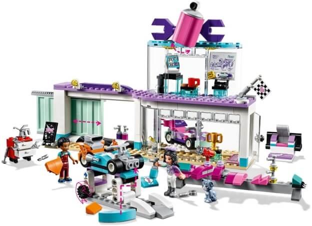 LEGO Friends 41351 Tuningová dílna sestaveno
