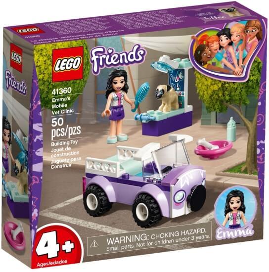 Stavebnice LEGO Emma a mobilní veterinární klinika