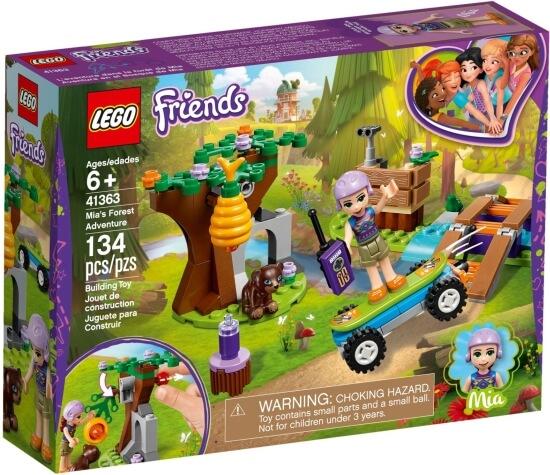 Stavebnice LEGO Mia a dobrodružství v lese