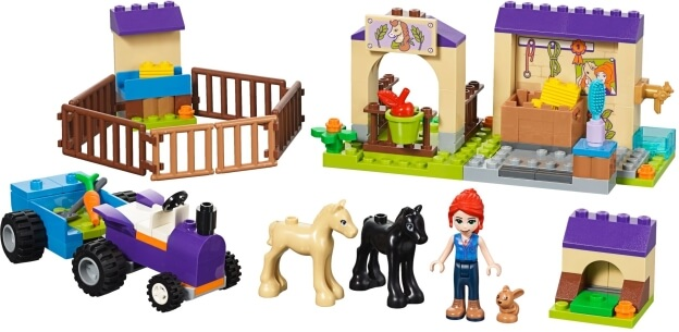 LEGO Friends 41361 Mia a stáj pro hříbata sestaveno