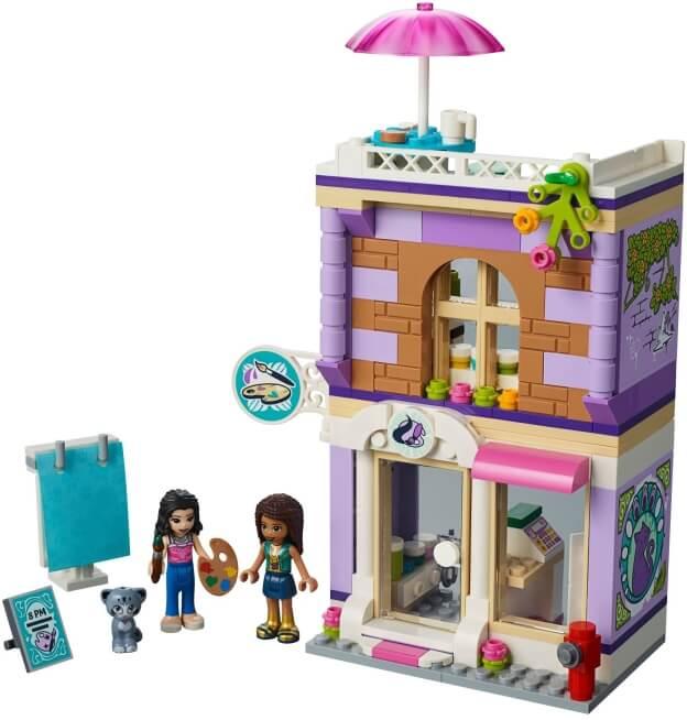 LEGO Friends 41365 Emma a umělecké studio sestaveno