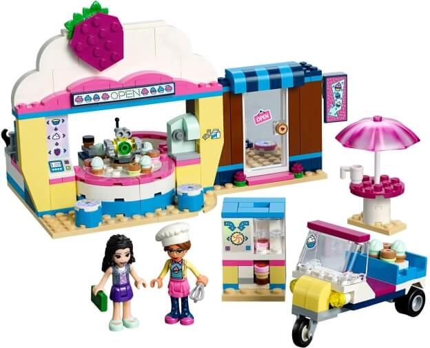 LEGO Friends 41366 Olivia a kavárna s dortíky sestaveno
