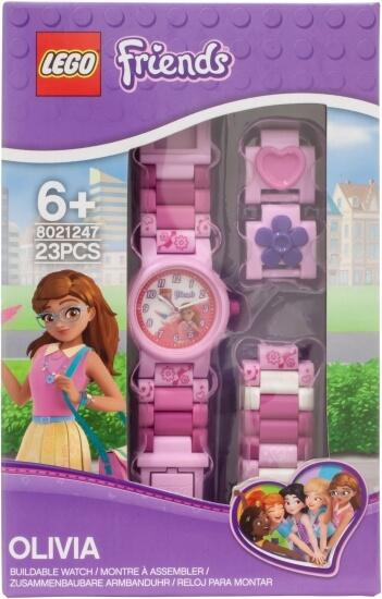 Stavebnice LEGO Sestavitelné hodinky s Olivií