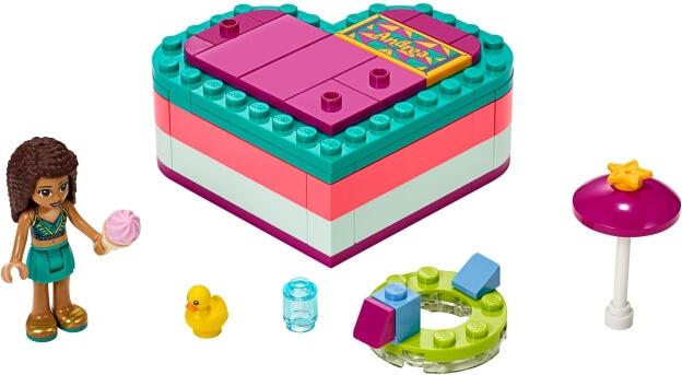 LEGO Friends 41384 Andrea a letní srdcová krabička sestaveno