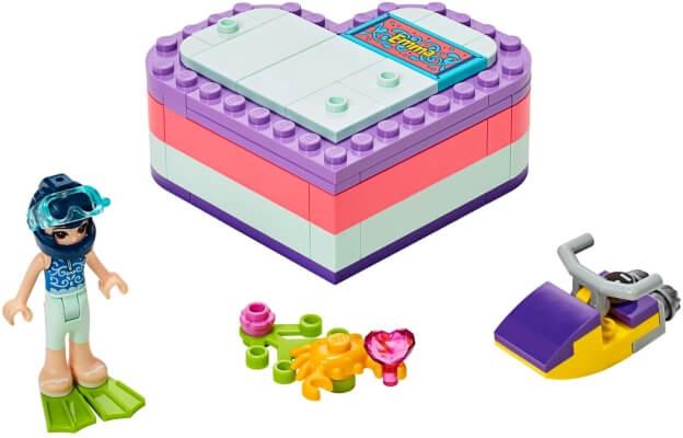 LEGO Friends 41385 Emma a letní srdcová krabička sestaveno