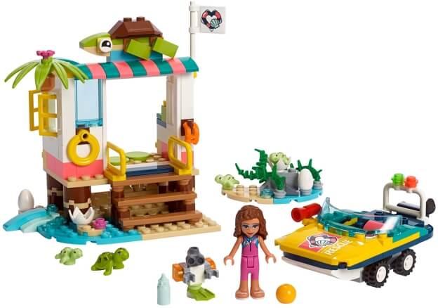 LEGO Friends 41376 Mise na záchranu želv sestaveno