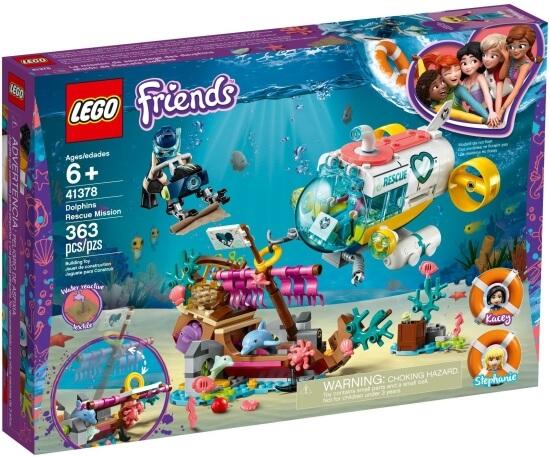 Stavebnice LEGO Mise na záchranu delfínů