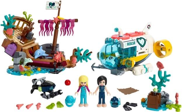LEGO Friends 41378 Mise na záchranu delfínů sestaveno