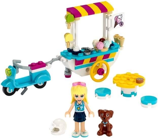 LEGO Friends 41389 Pojízdný zmrzlinový stánek sestaveno