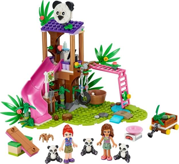 LEGO Friends 41422 Pandí domek na stromě v džungli sestaveno