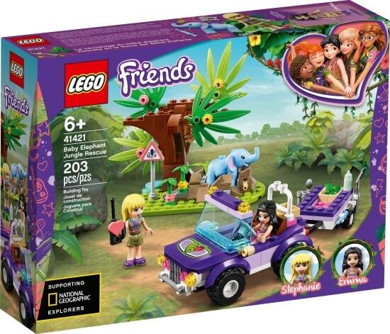 Stavebnice LEGO Záchrana slůněte v džungli