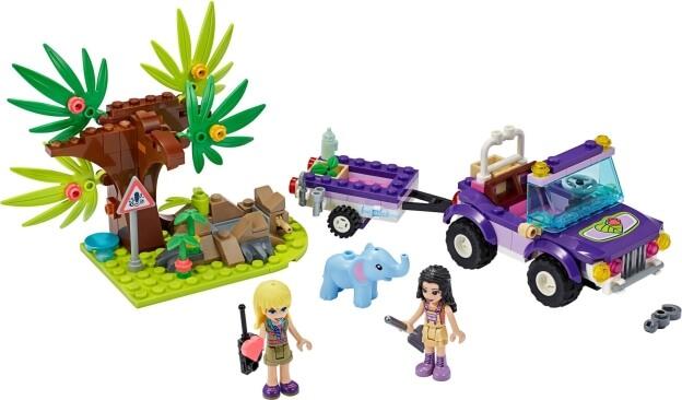 LEGO Friends 41421 Záchrana slůněte v džungli sestaveno