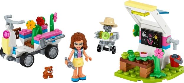 LEGO Friends 41425 Olivia a její květinová zahrada sestaveno