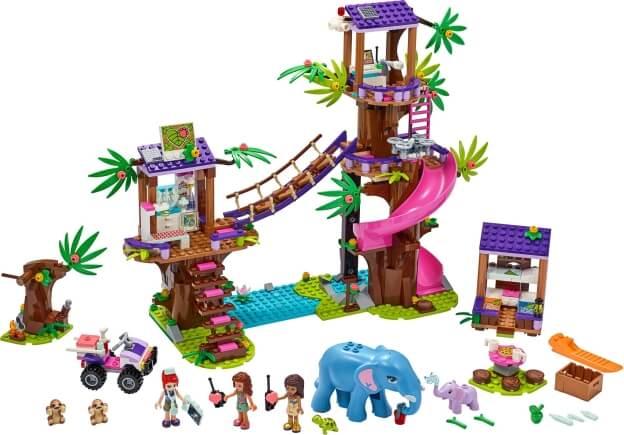 LEGO Friends 41424 Základna záchranářů v džungli sestaveno