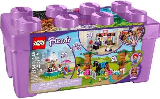 Stavebnice LEGO Box s kostkami z městečka Heartlake