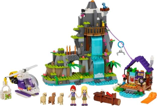 LEGO Friends 41432 Záchrana lamy na horách v džungli sestaveno