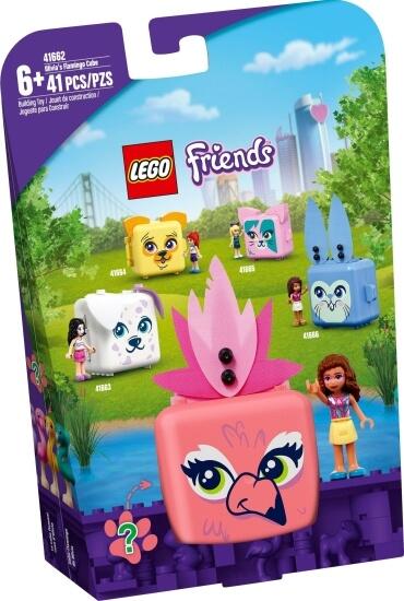 Stavebnice LEGO Olivia a její plameňákový boxík
